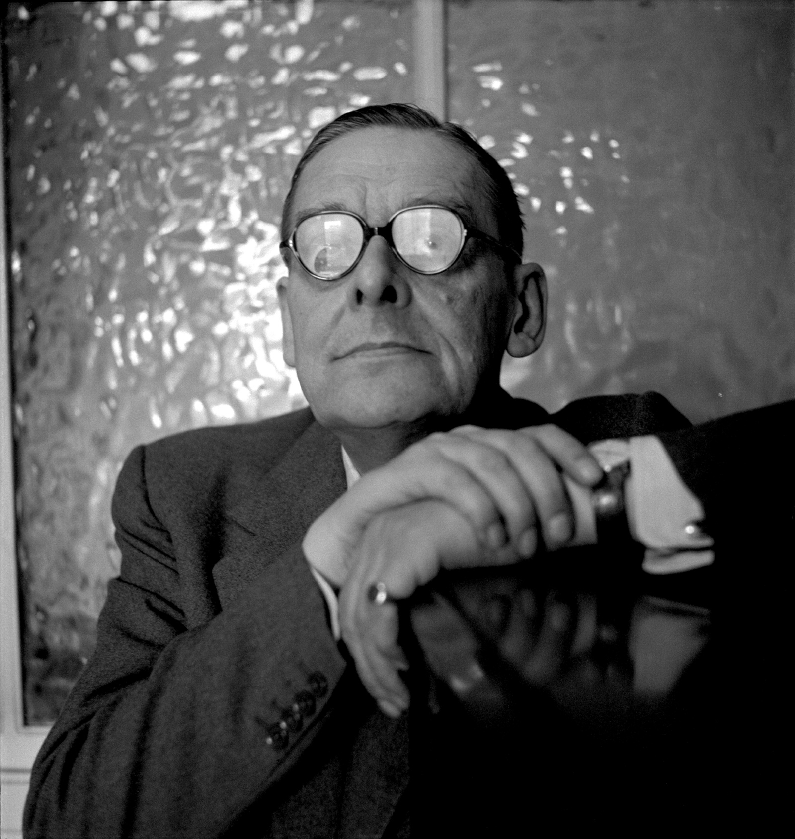 T. S. Eliot, 1956; photograph by Cecil Beaton from Mark Holborn's book Beaton: Photographs, just published by Abrams with an introduction by Annie Leibovitz