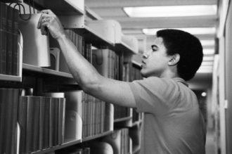 Barack Obama at Occidental College, 1981