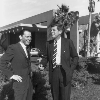 Frank Sinatra and John F. Kennedy at the Sands Hotel and Casino, Las Vegas, February 1960