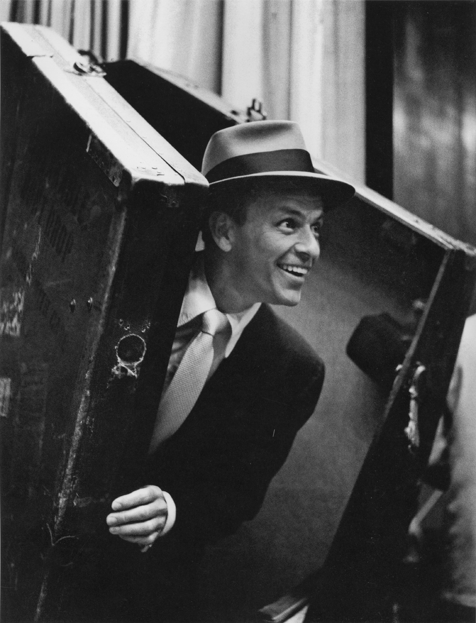 Frank Sinatra, Hollywood, 1955; photograph by William Claxton from Sinatra, a limited-edition book compiled by Amanda Erlinger and Robin Morgan, published by ACC Editions