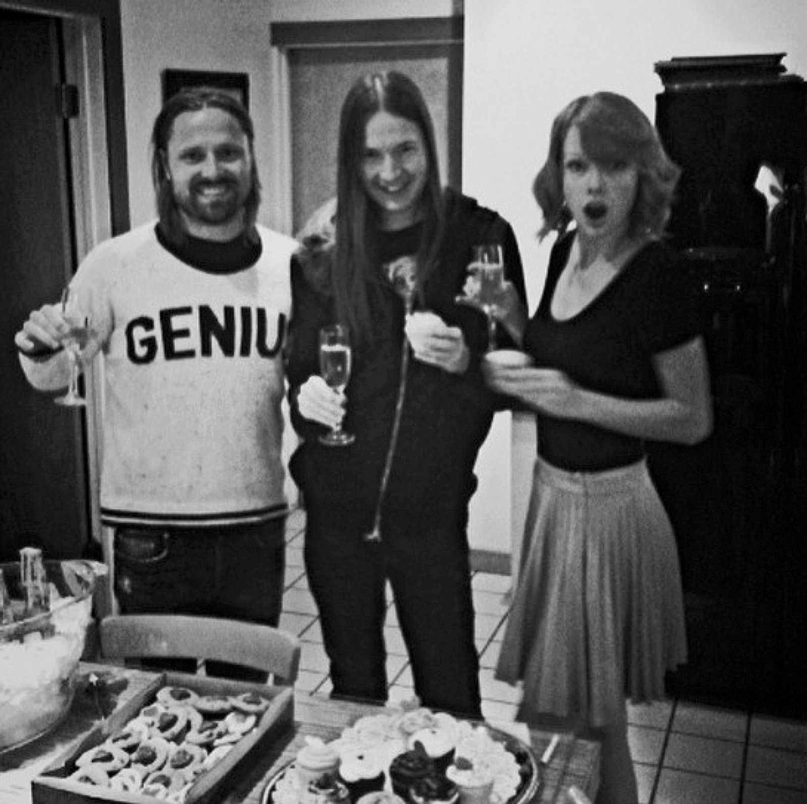 Music producers Max Martin and Shellback with Taylor Swift, who shared this photograph on Instagram in 2014 with the words, 'It was studio Valentines Day with Max and Johan!'
