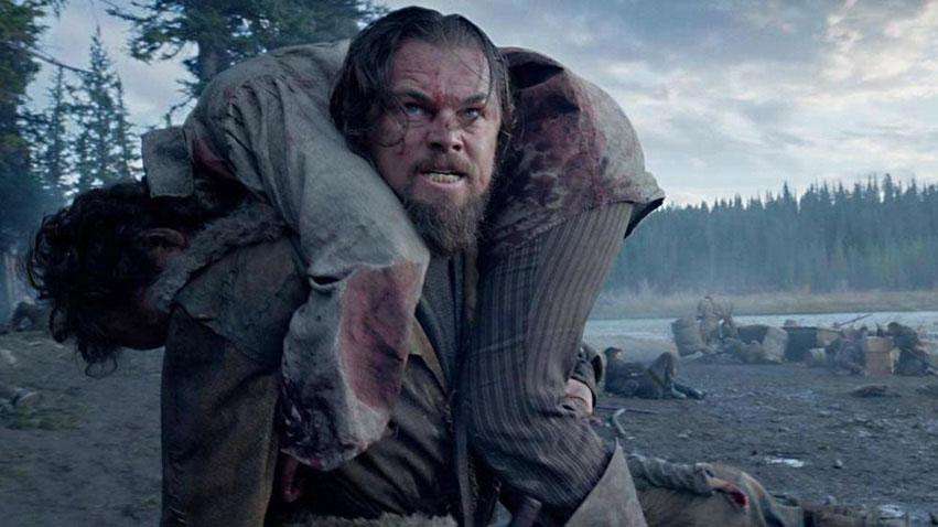 Leonardo DiCaprio as Hugh Glass in Alejandro González Iñárritu's The Revenant, 2015