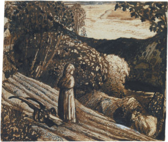 Samuel Palmer: Girl Standing, circa 1826; from William Vaughan's book Samuel Palmer: Shadows on the Wall, just published by Yale University Press