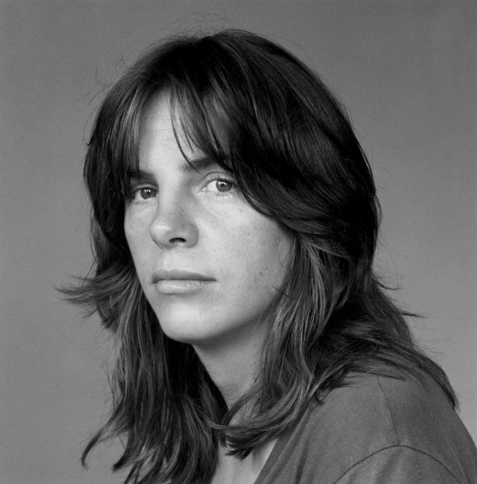 Eileen Myles, 1980; photograph by Robert Mapplethorpe, from the cover of Chelsea Girls