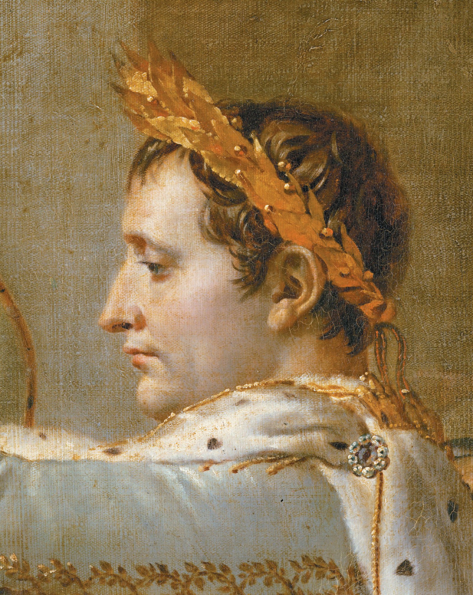 'The Coronation of Napoleon'; detail of a painting by Jacques-Louis David, 1806–1807