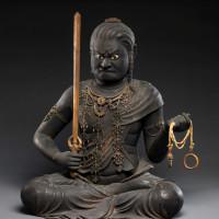 Statue of the Wisdom King Fudō Myōō by Kaikei, Kamakura period, early thirteenth century