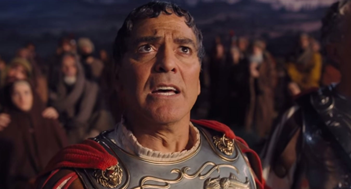 George Clooney as Baird Whitlock in the Coen brothers' Hail, Caesar!, 2016