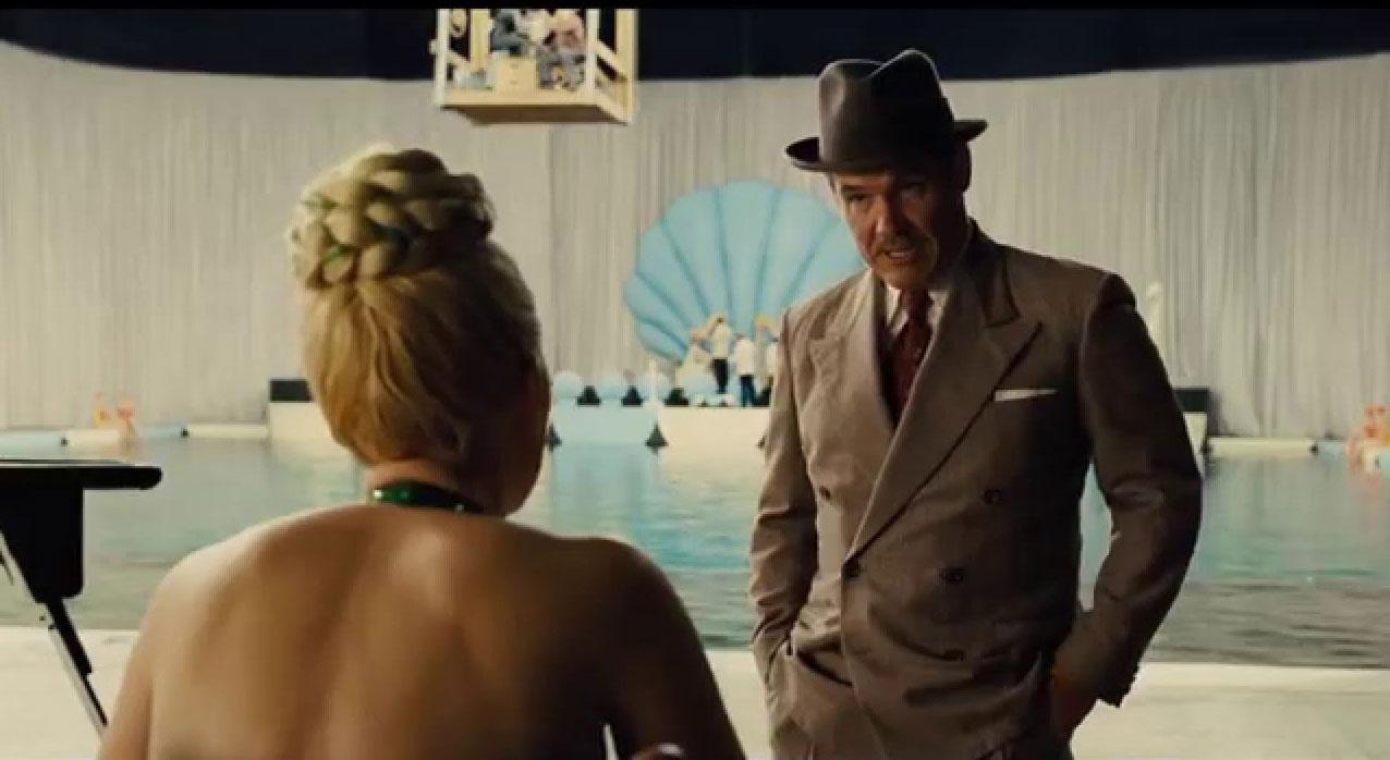 Scarlett Johansson as xx and Josh Brolin as Eddie Mannix in Hail, Caesar!, 2016