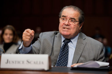 Justice Antonin Scalia testifying before the Senate Judiciary Committee about the role of judges under the Constitution, Washington, D.C., October 5, 2011