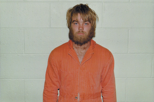 Steven Avery after his arrest in 1985 for a crime he did not commit, and for which he spent eighteen years in prison; from <i>Making a Murderer</i>