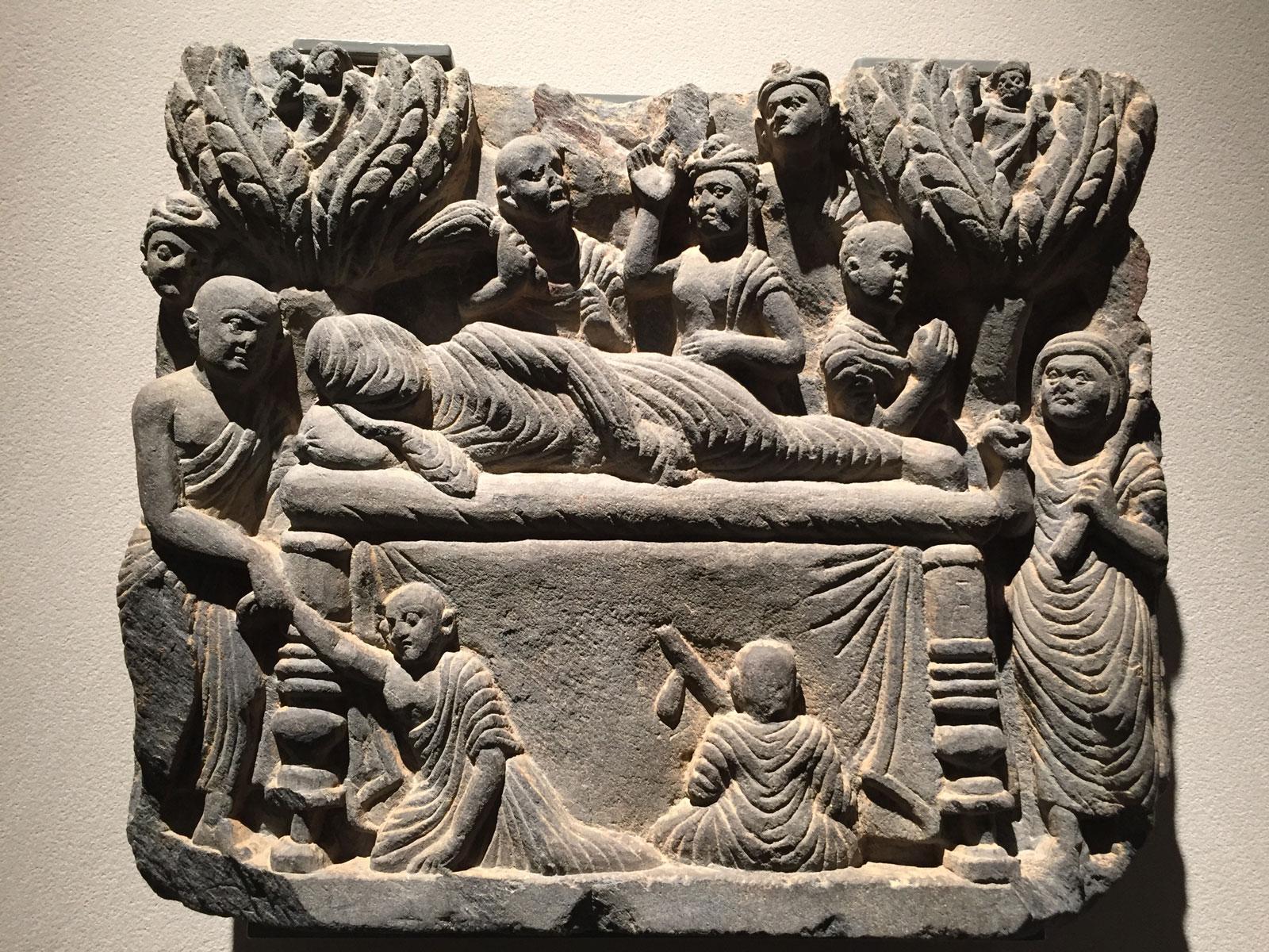 Parinirvāna of the Buddha, Gandhara, third century AD