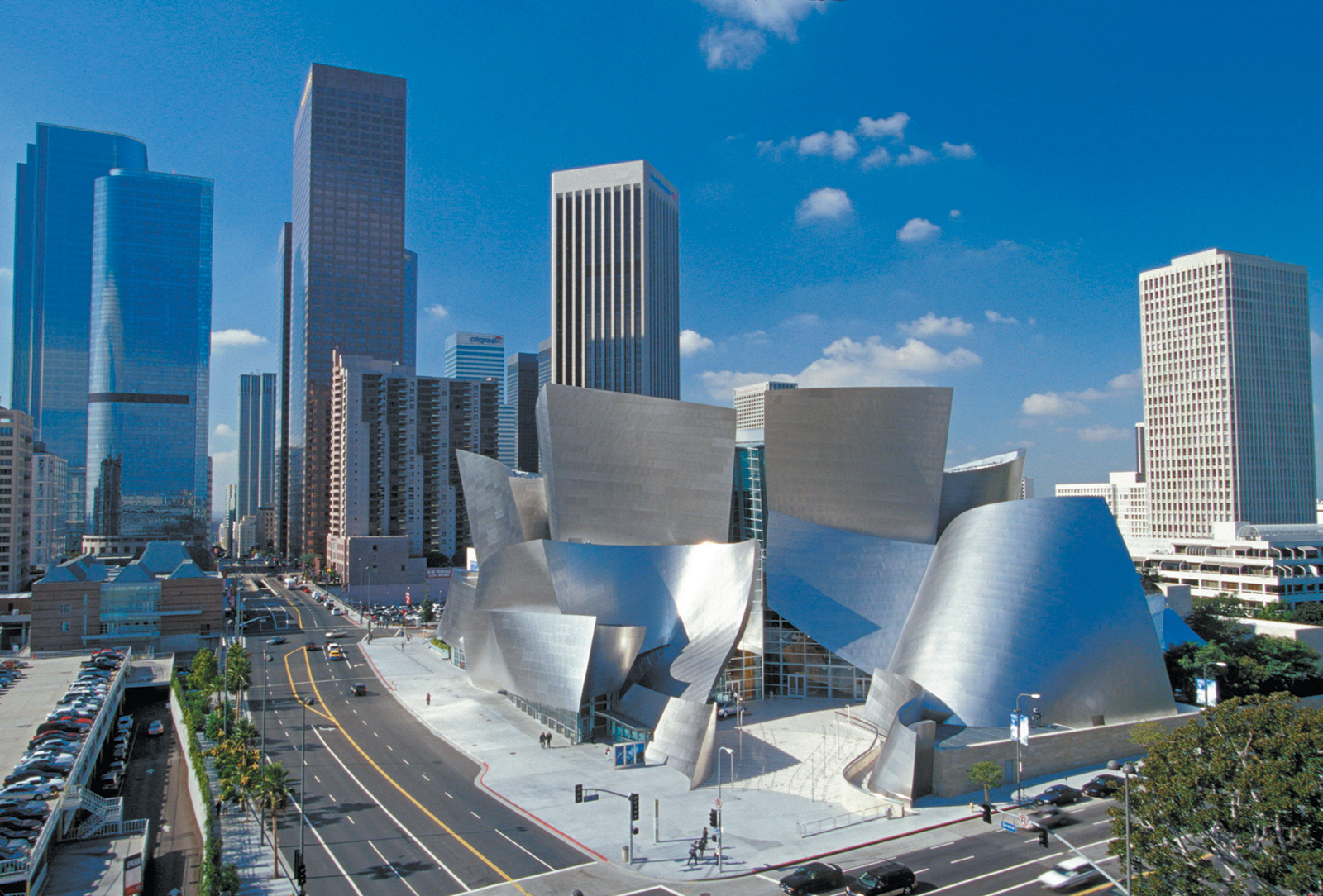 The Walt Disney Concert Hall in Los Angeles, designed by Frank Gehry