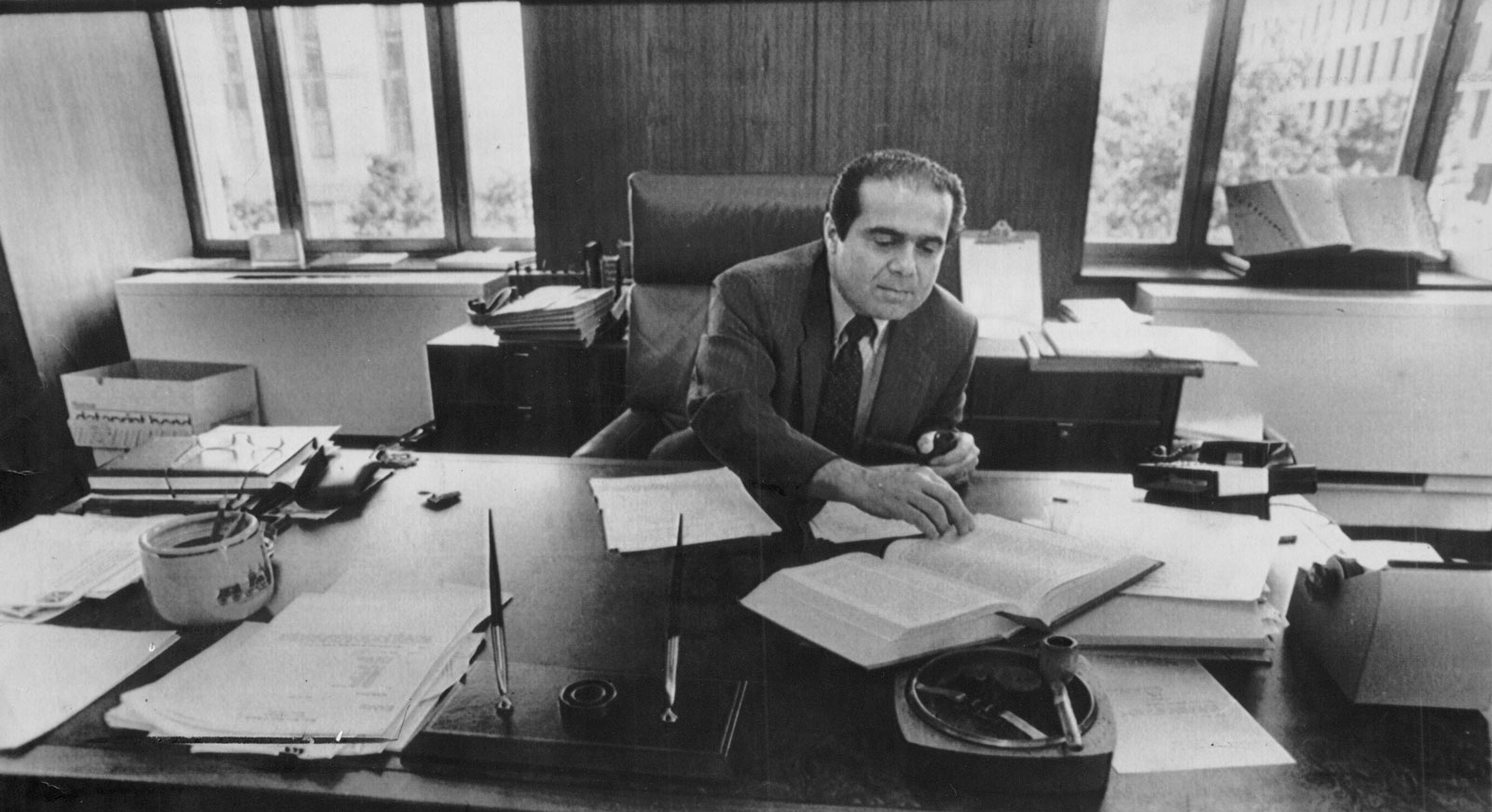 Judge Antonin Scalia, then serving on the United States Court of Appeals in the District of Columbia Circuit, Washington, D.C., July 28, 1986