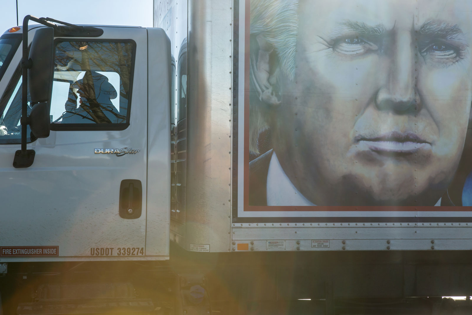 """""""Truckers for Trump"""" convoy, Des Moines, Iowa, January 28, 2016"""