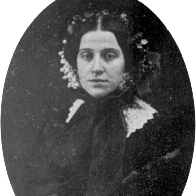 Susan Gilbert Dickinson on the day of her wedding to Emily Dickinson's brother, Austin, July 1, 1856