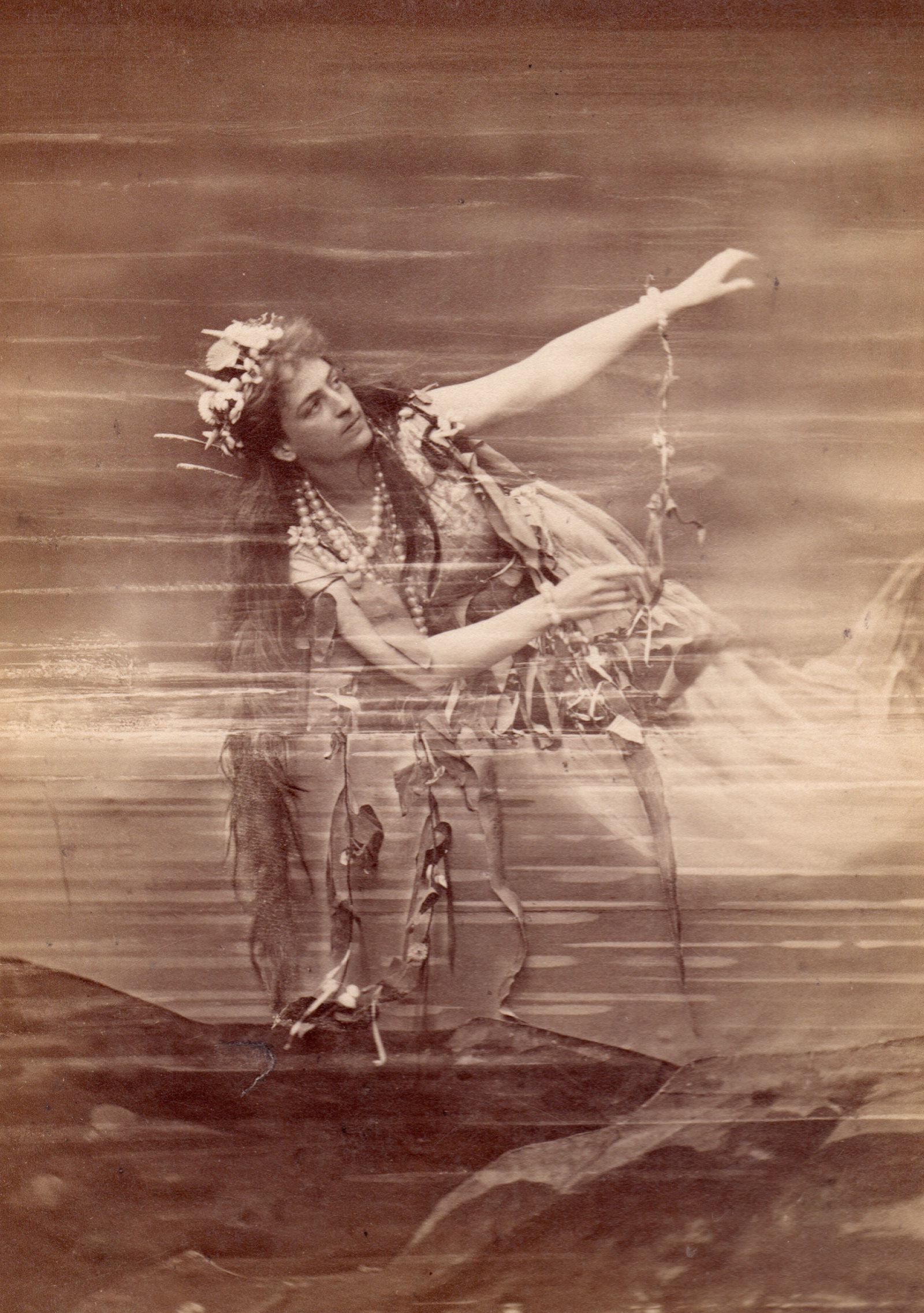 Lilli Lehmann as Woglinde in Das Rheingold, Bayreuth production, 1876