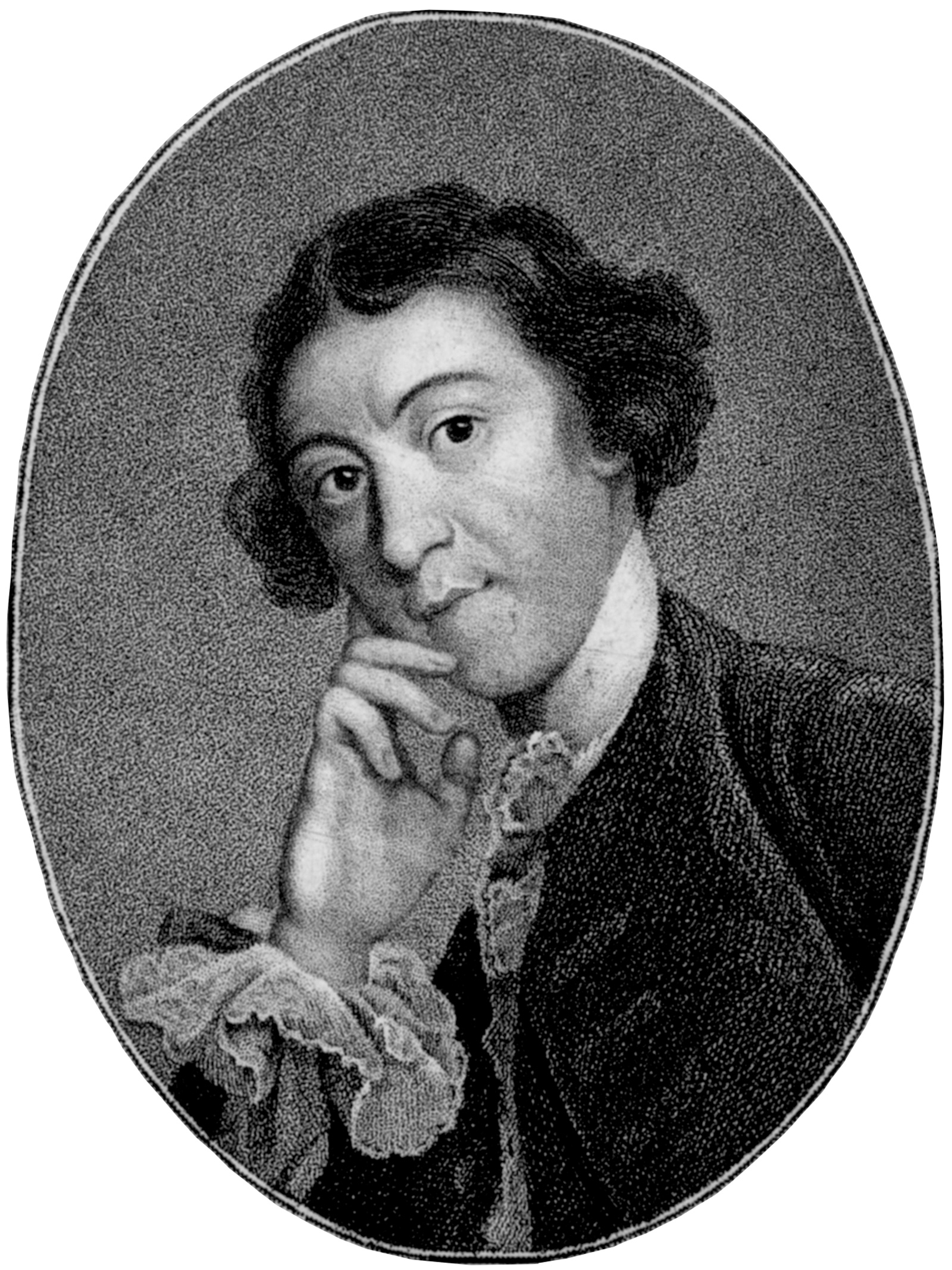 Horace Walpole, circa 1751; engraving after a painting by Joshua Reynolds