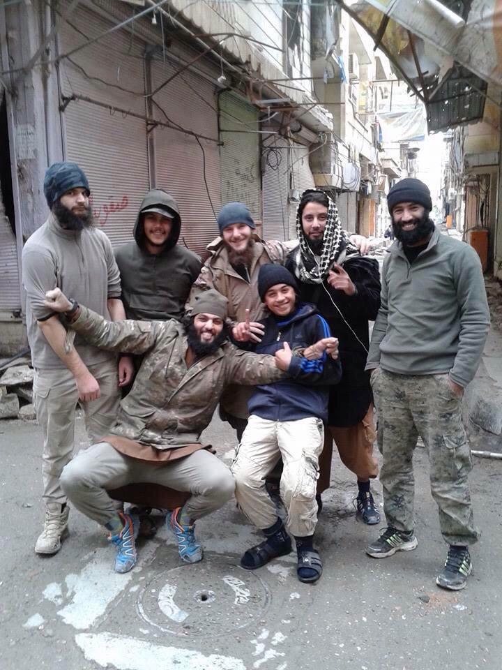 Belgian jihadists, including Younes Abaaoud, Syria, 2015
