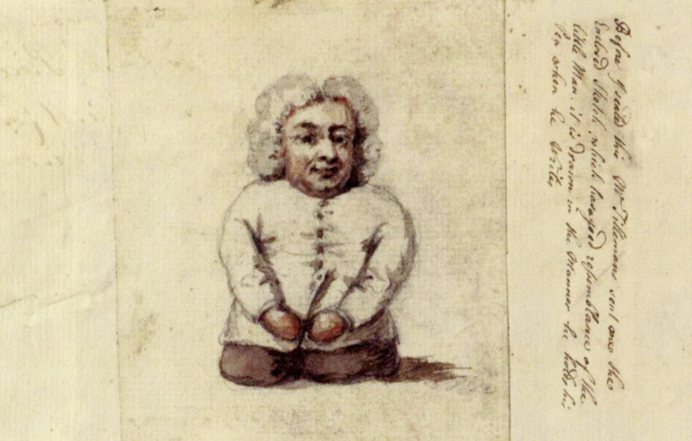Sketch of Buchinger by Pieter Tillesmans, taken from life, London, 1730