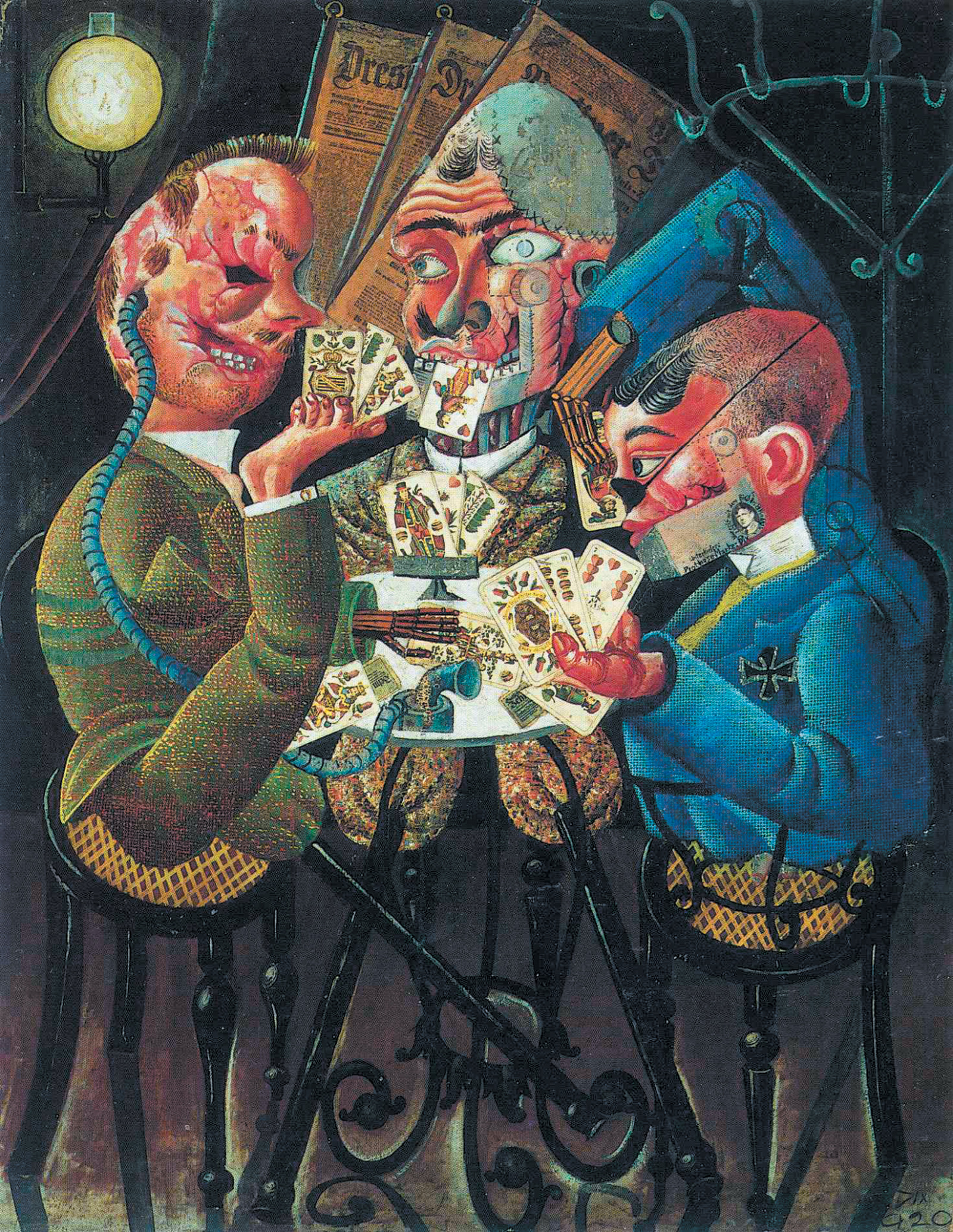 Otto Dix: The Skat Players, 1920