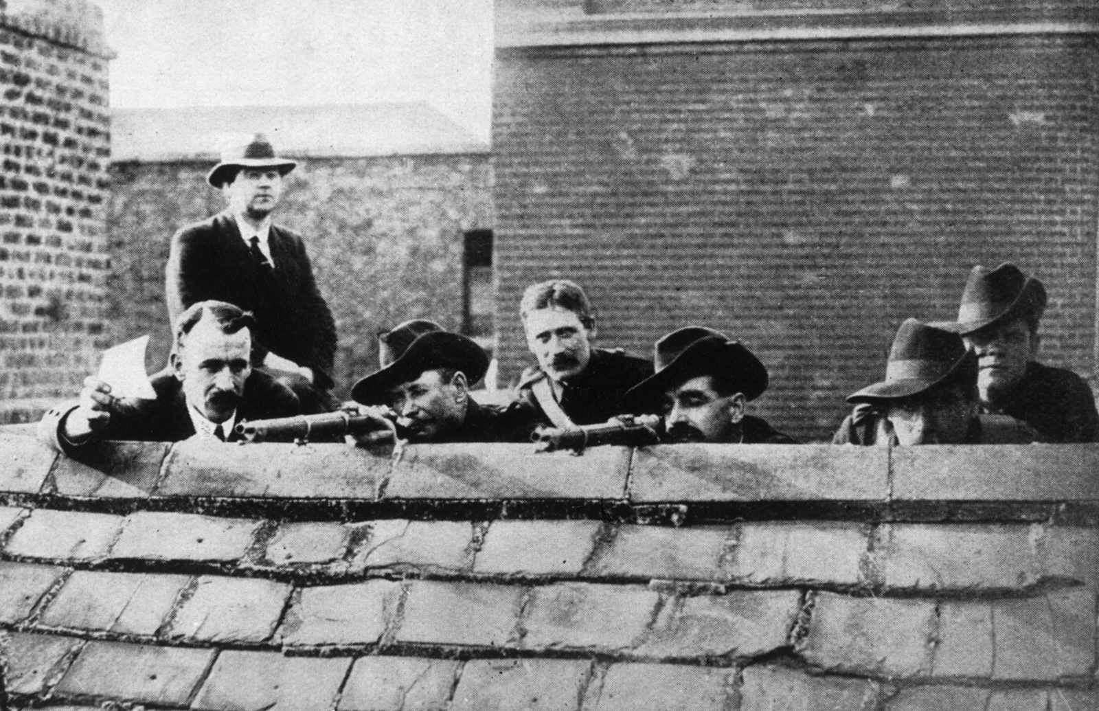 Irish rebels during the Easter Rising, 1916