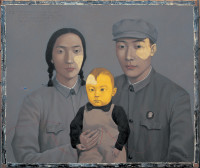 Zhang Xiaogang: Family No. 2, 1993; from the book Zhang Xiaogang: Disquieting Memories, by Jonathan Fineberg and Gary G. Xu, published last year by Phaidon