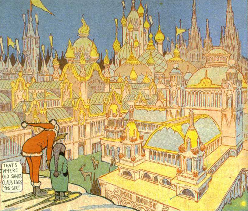 A panel from Winsor McCay's Little Nemo: Adventures in Slumberland, December 17, 1905