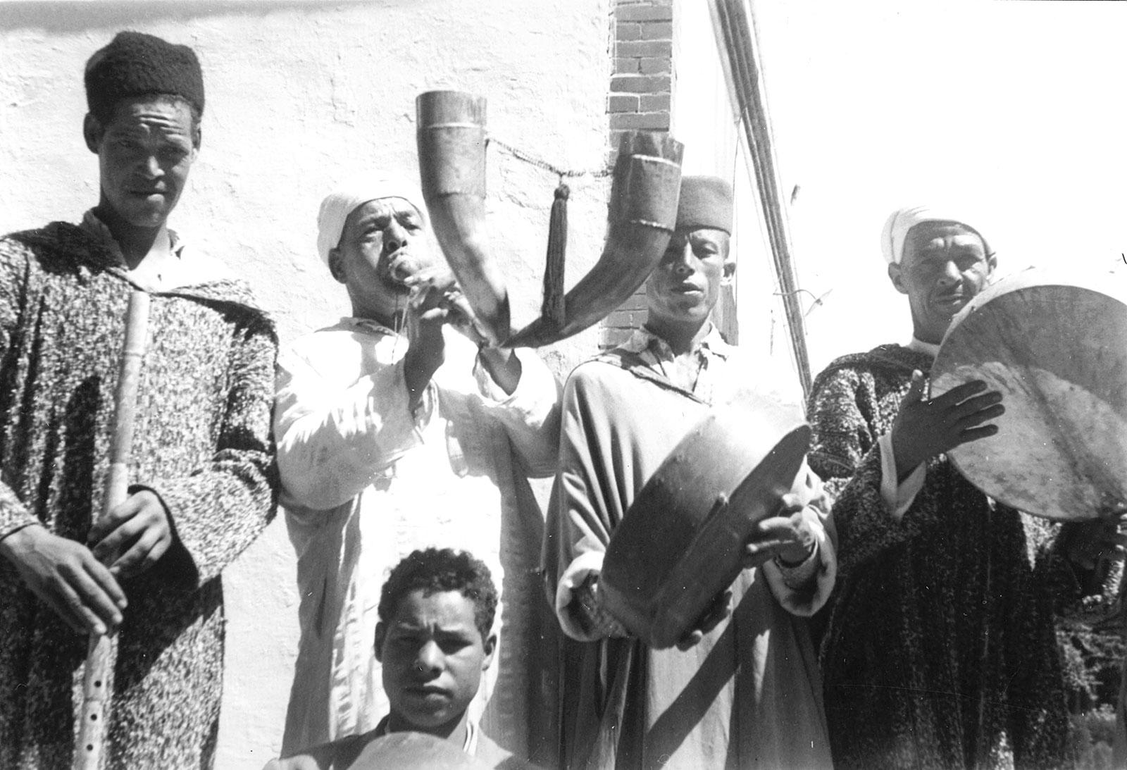 Moroccan musicians, 1959