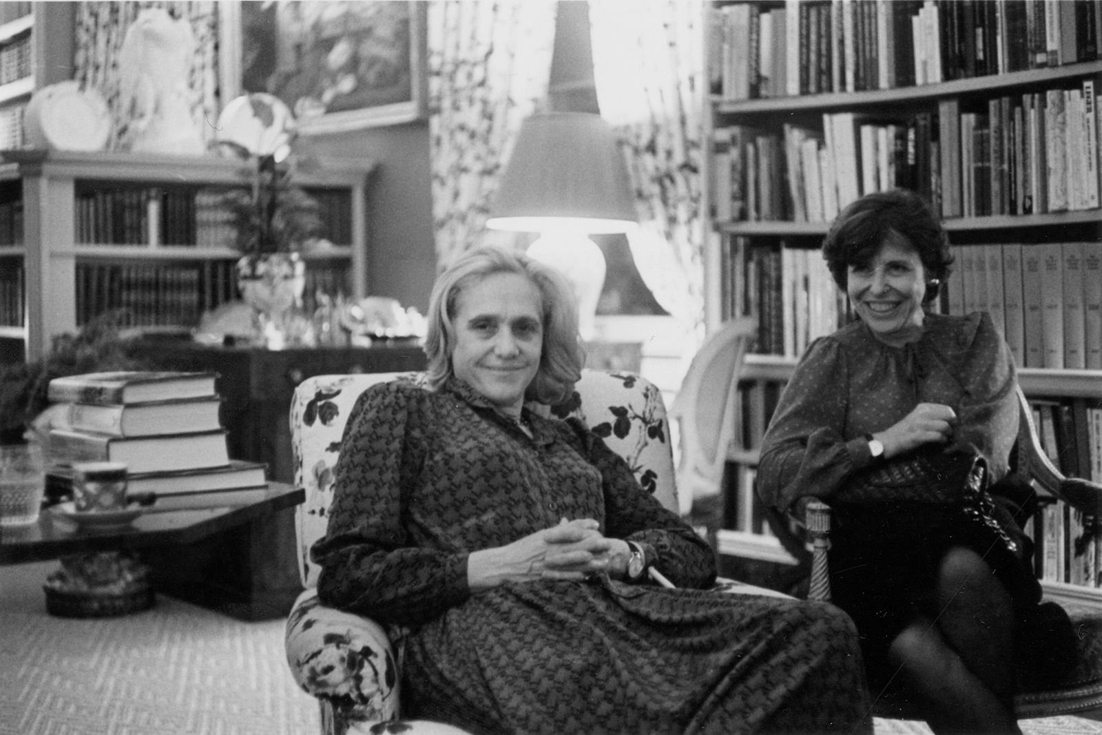 Natasha Spender and New York Review editor Barbara Epstein