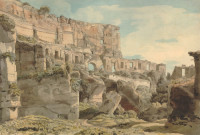 Francis Towne: Inside the Colosseum, 1780
