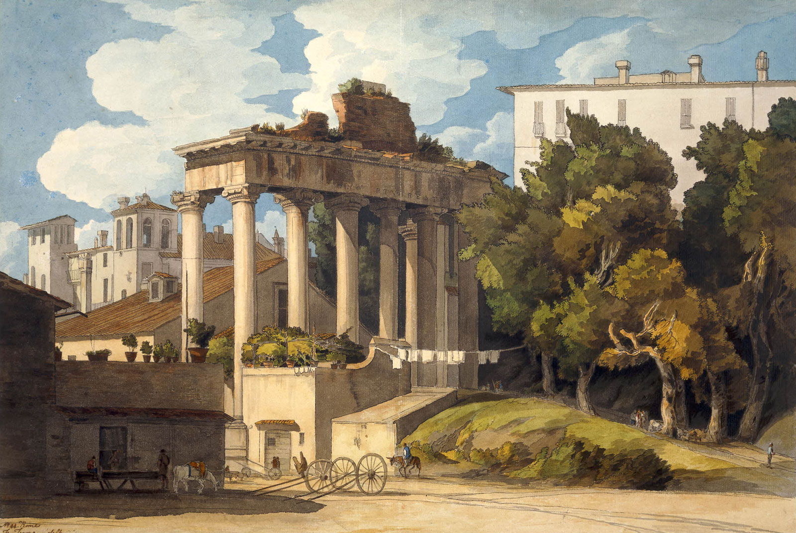 Francis Towne, Temple of Saturn, 1780-1781