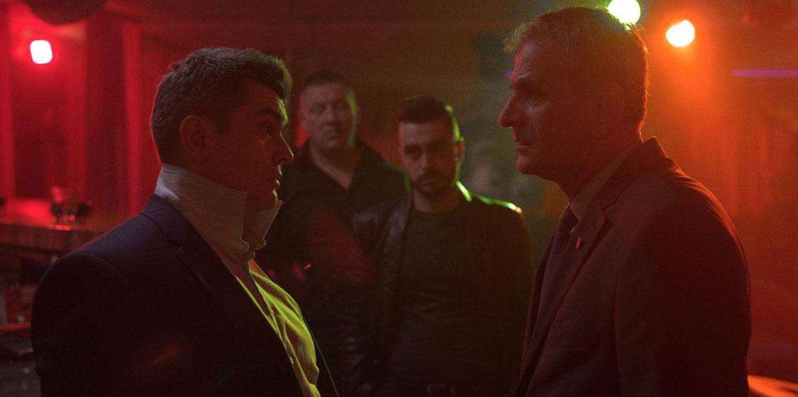 Aleksandar Seksan as Enco and Izudin Bajrović as Omer in Danis Tanović's Death in Sarajevo, 2016