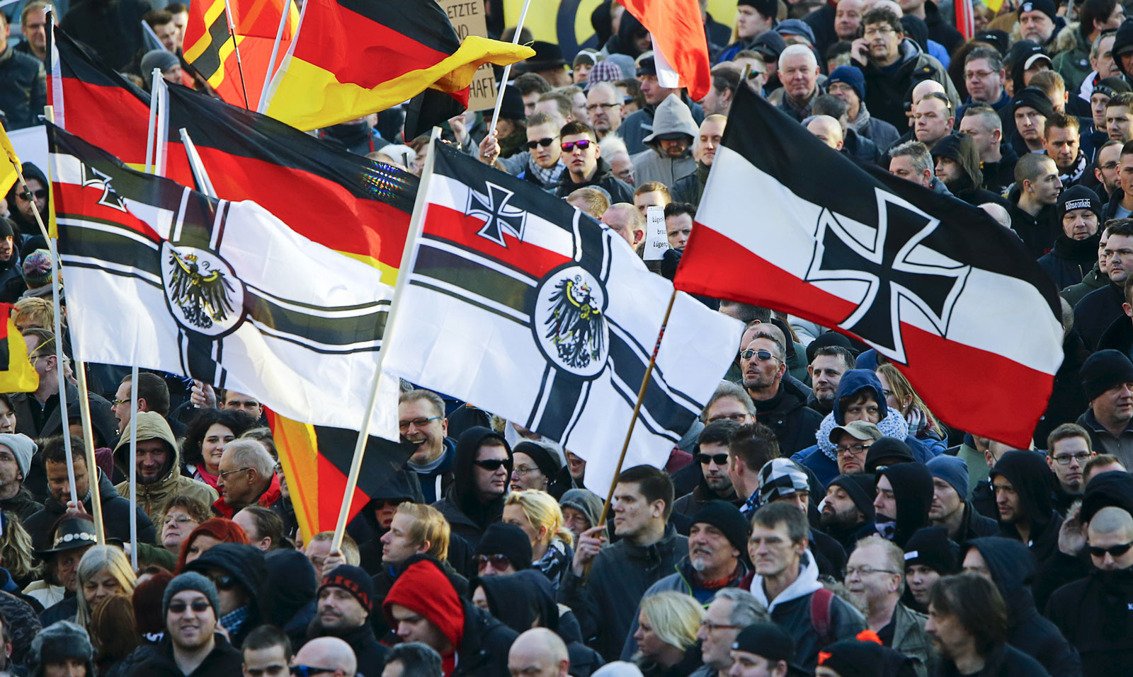 the right wing of germany in Six men were arrested in germany monday on suspicion of forming a far-right terror cell and planning violent attacks on politicians and immigrants in order to overthrow the government.