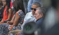 President Obama with Cuban President Raúl Castro at a baseball game between the Cuban national team and the Tampa Bay Rays, Havana, March 2016