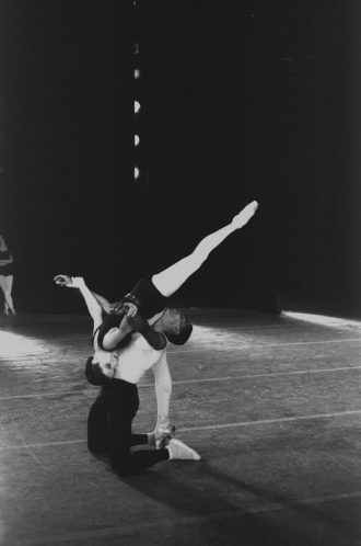 Diana Adams and Arthur Mitchell in a production of Agon by the New York City Ballet, 1963