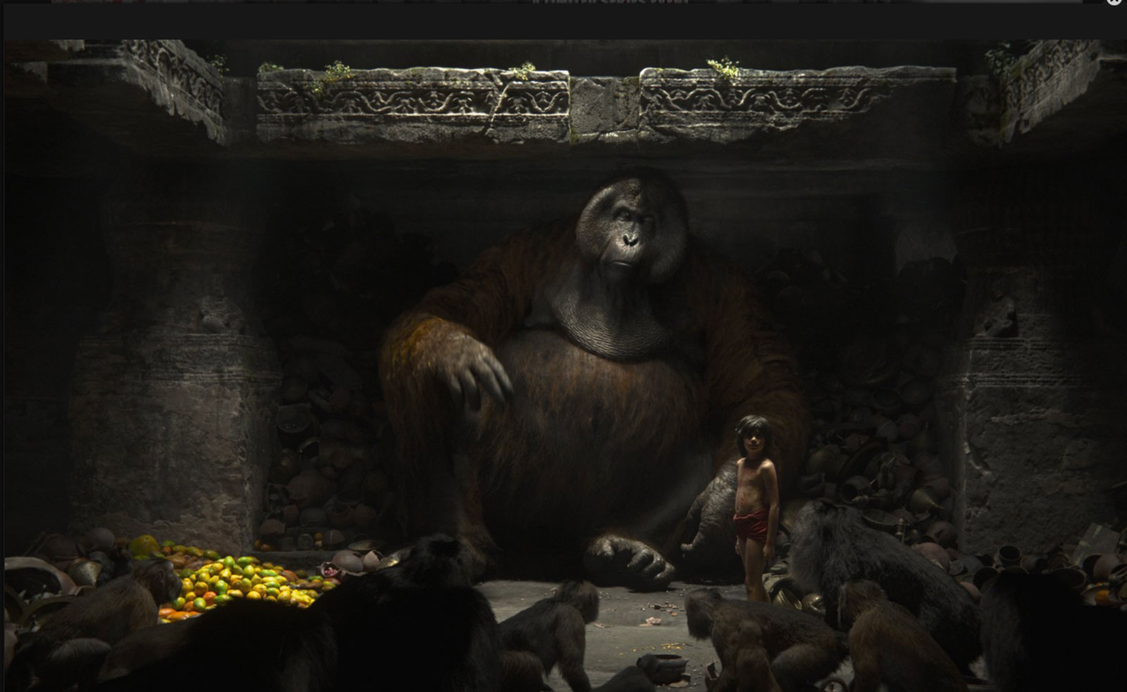 Louie, King of the Apes, voiced by Christopher Walken