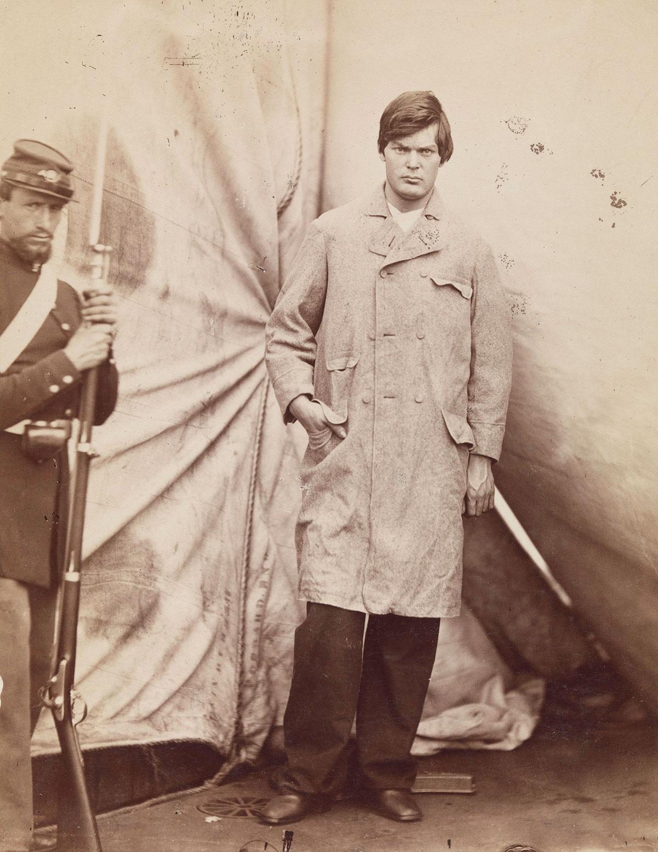 Portrait of Lewis Powell by Alexander Gardner, April 27, 1865