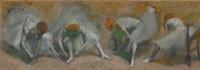 Edgar Degas: Frieze of Dancers, oil on canvas, circa 1895