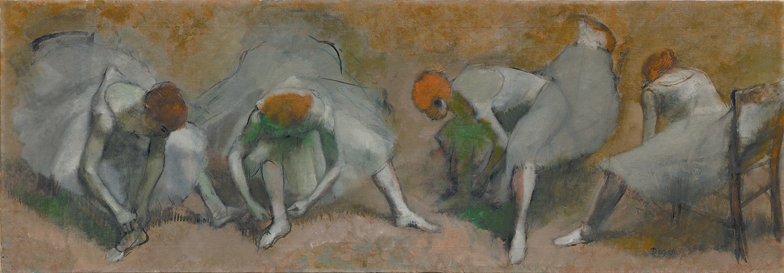 Edgar Degas: Frieze of Dancers, oil on canvas, circa 1895