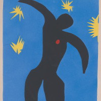 Henri Matisse: Icarus, plate VIII in his book Jazz, 1947; from the Morgan Library and Museum's recent exhibition 'Graphic Passion: Matisse and the Book Arts'
