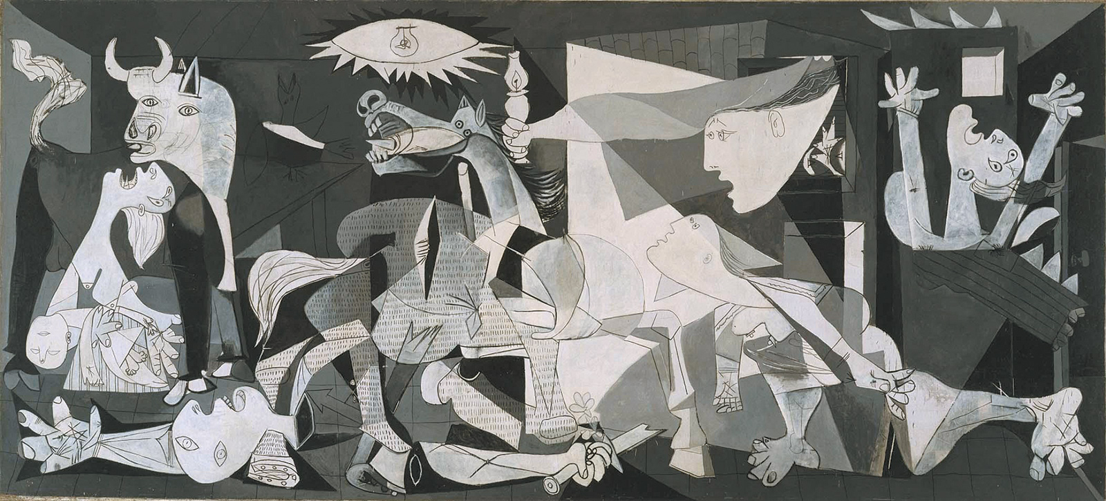 Pablo Picasso: Guernica, oil on canvas, May 1–June 4, 1937