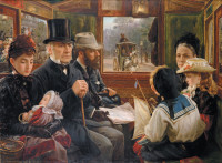 Alfred Morgan: An Omnibus Ride to Piccadilly Circus, Mr. Gladstone Travelling with Ordinary Passengers, 1885