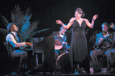 Audra McDonald with Brandon Victor Dixon at the piano in Shuffle Along
