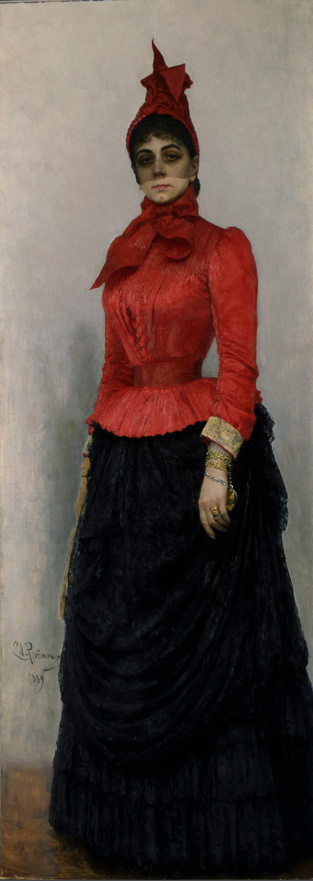 Ilia Repin: Baroness Varvara Ikskul von Hildenbandt, 1889