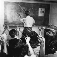 Josef Albers teaching at Black Mountain College, North Carolina, circa 1946