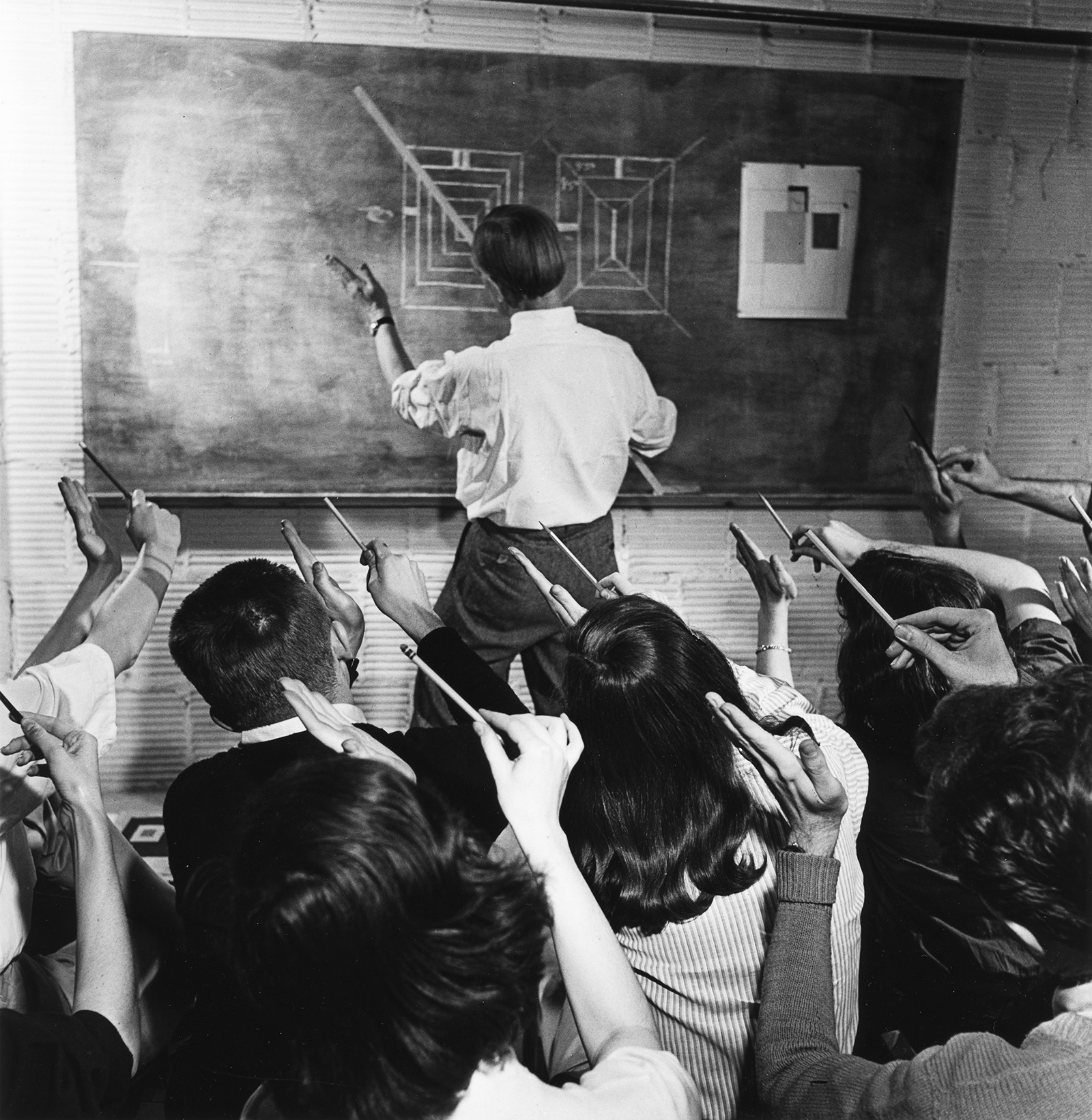 Josef Albers teaching at Black Mountain College, North Carolina, circa 1946