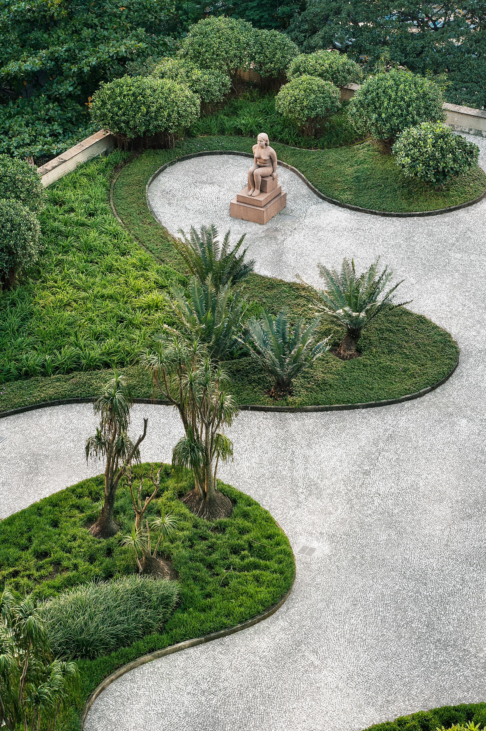 Gardens of the Ministry of Education and Health, designed by Roberto Burle Marx, Rio de Janeiro, Brazil, 1938