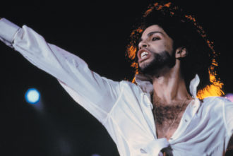 Prince performing at a music festival in Rio de Janeiro, 1991