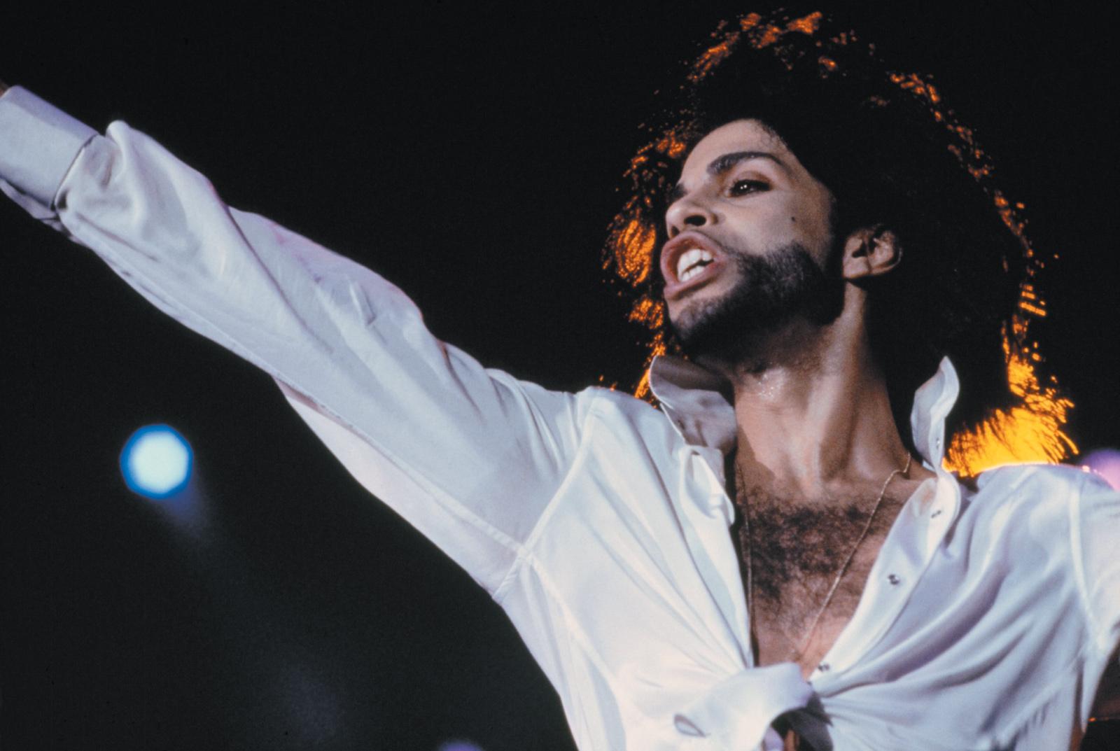 Prince performing at a music festival in Rio de Janeiro, 1991