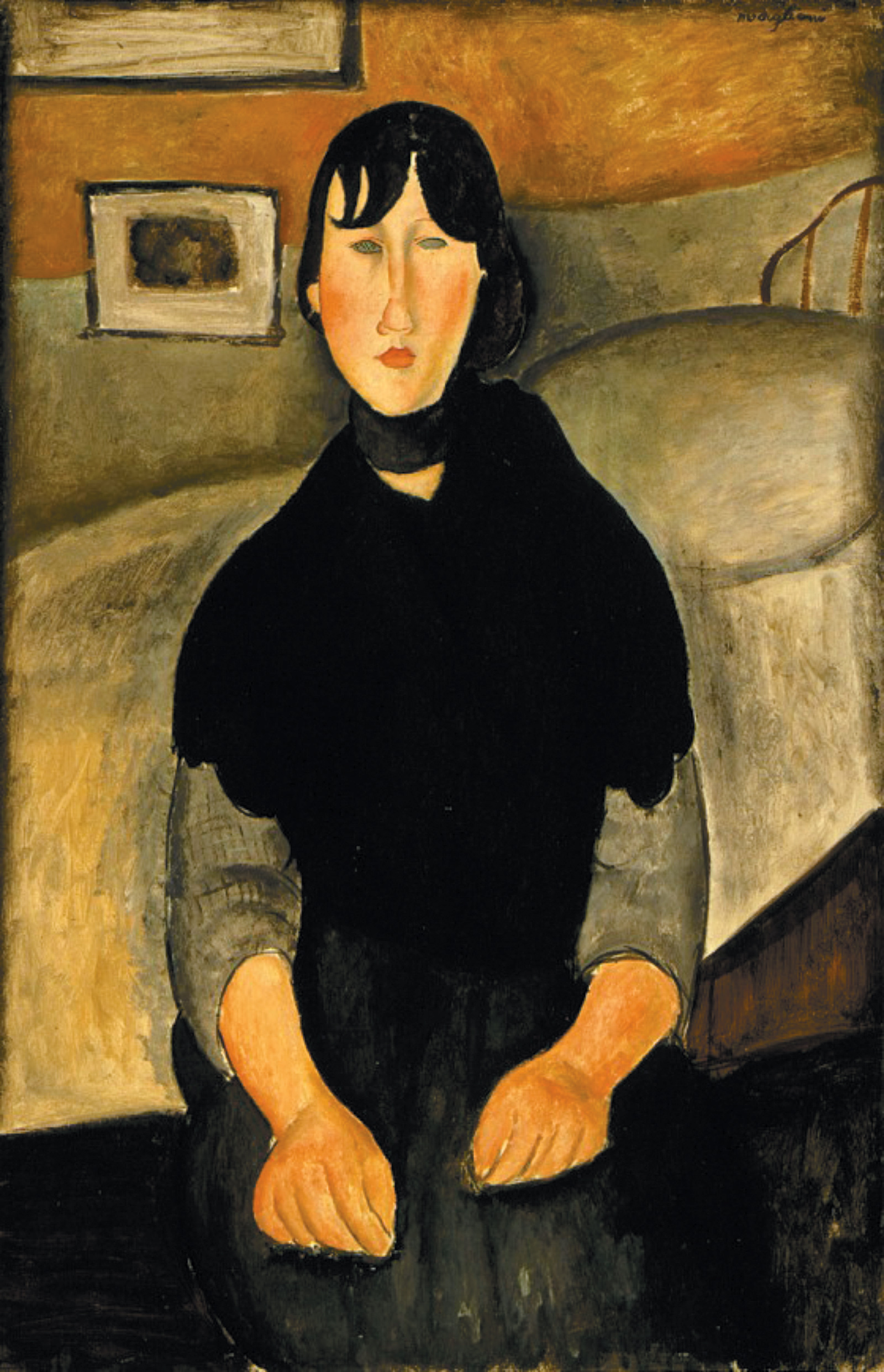 'Young Woman of the People'; painting by Amedeo Modigliani, 1918